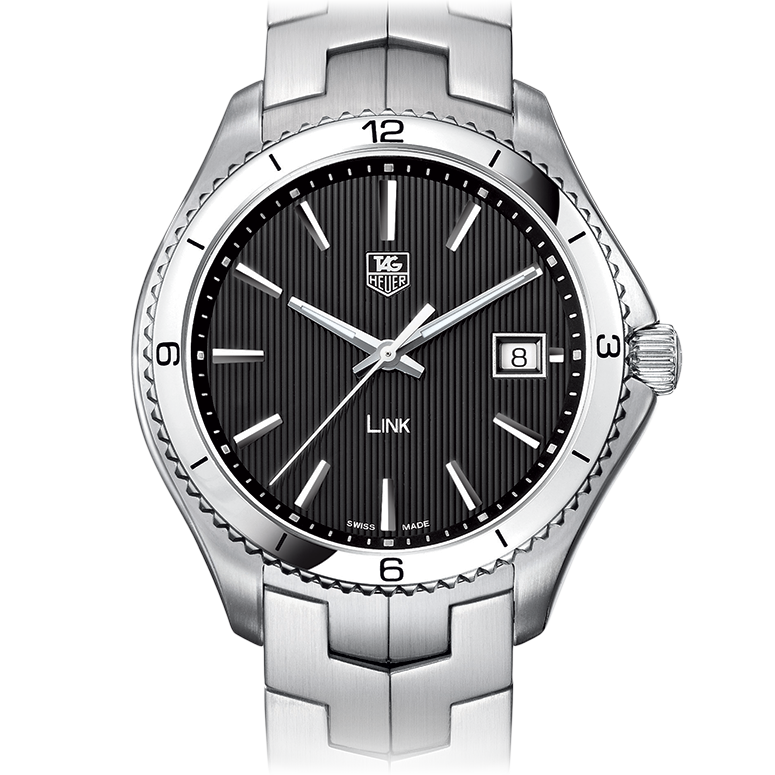 40MM Tag Heuer Link Black Dial Copy Watches