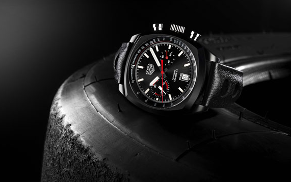 TAG Heuer Monza Replica Watches With Black Titanium Cases Sale