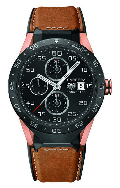 Admired Smart Black Titanium Bezels TAG Heuer Connected SAR8A50.FT6070 Fake Watches