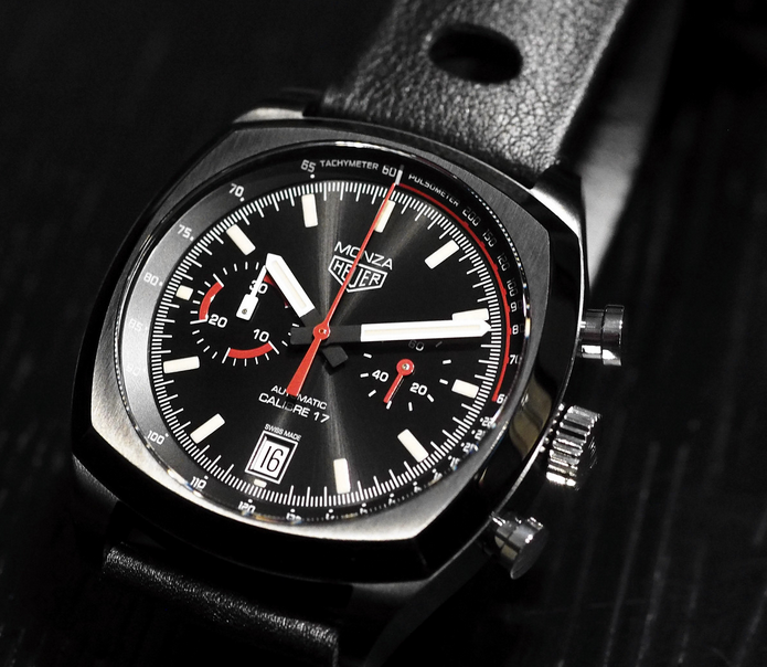Black Dials TAG Heuer Monza Fake Watches Shown Around The World