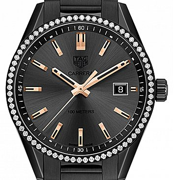 Brilliant TAG Heuer Carrera Fake Watches With Black Bracelets