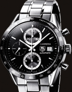 Ed Westwick Introduced Formal Black Dials TAG Heuer Carrera Copy Watches For Men
