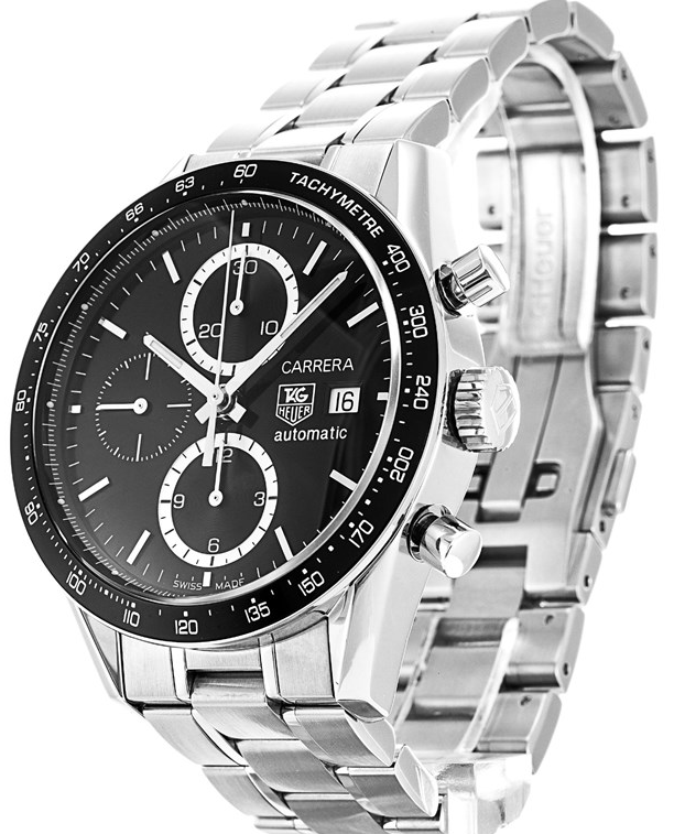 Ed Westwick Introduced Formal Black Dials TAG Heuer Carrera Replica Watches For Men