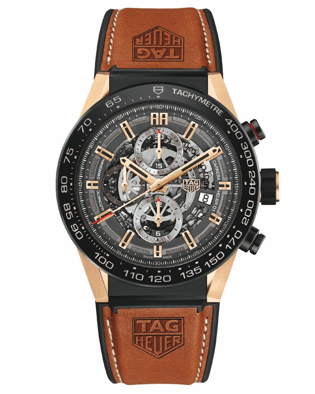 13eaed632fd The new homemade Chronograph has all the characteristics of the first  generation of Heuer-01 watches including hollow dials which have become a  symbol of ...