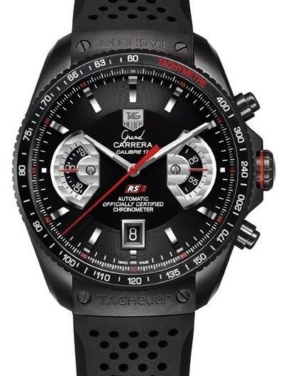 854631ee490f Practical Fake TAG Heuer Grand Carrera Calibre 17 RS2 Watches Provide Two  Straps