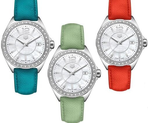 Hot knock-off watches are appealing with various straps.