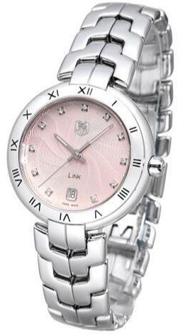 Female replication watches are decorated with diamonds for hour markers.