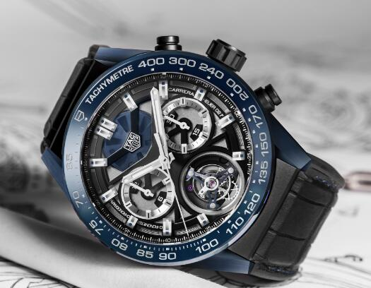 Special knock-off watches show tourbillon design.