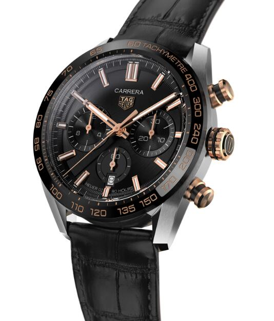 Online fake Tag Heuer watches are popular for the black and gold colors.